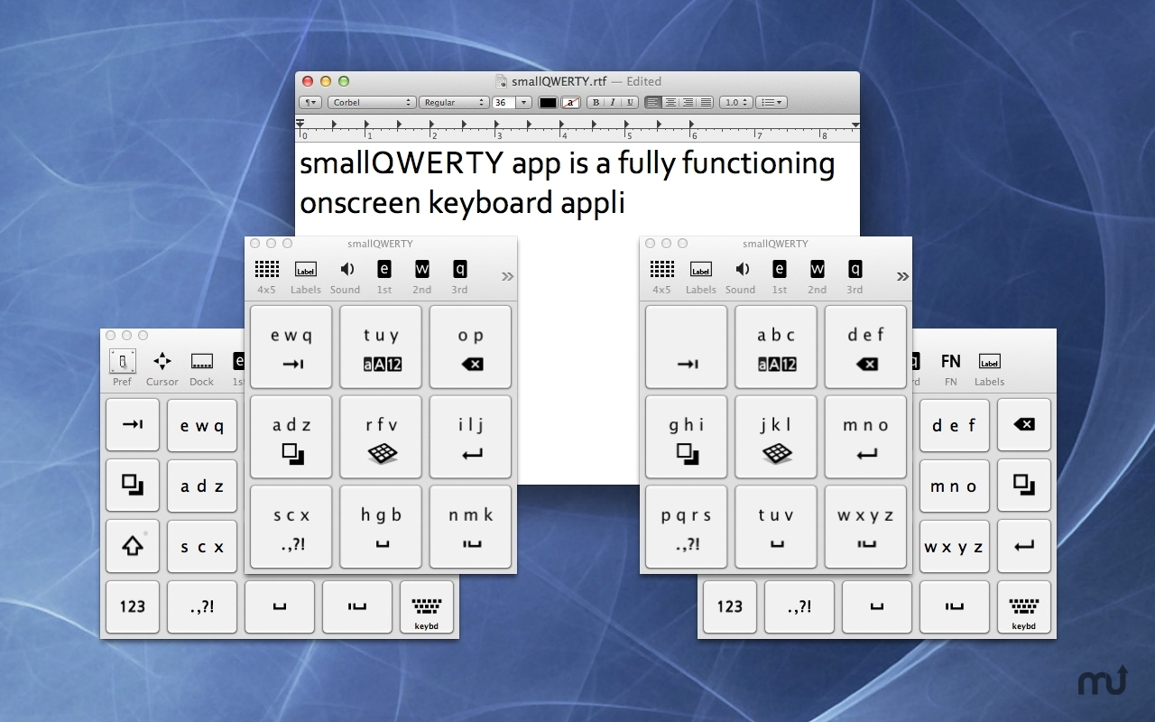 Screenshot 1 for smallQWERTY