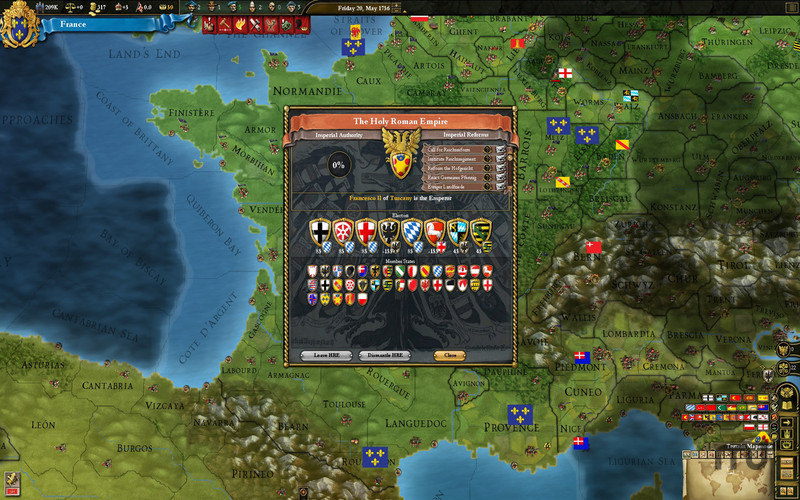 Screenshot 1 for Europa Universalis III Chronicles