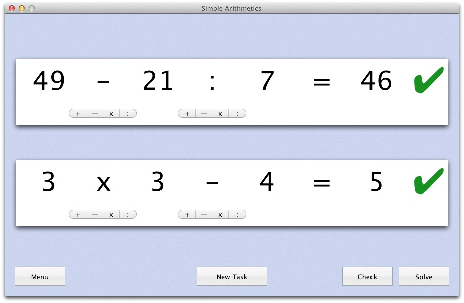 Screenshot 2 for Simple Arithmetics