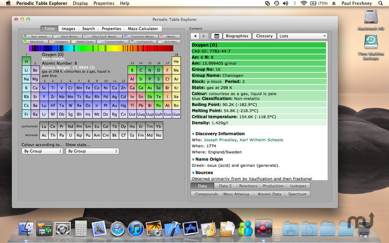 Screenshot 1 for Periodic Table Explorer
