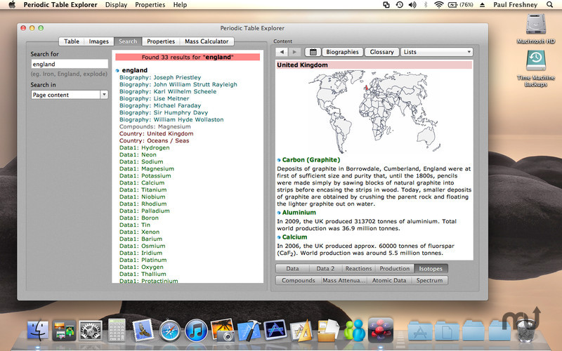 Periodic table explorer 16 purchase for mac macupdate screenshot 3 for periodic table explorer urtaz Choice Image