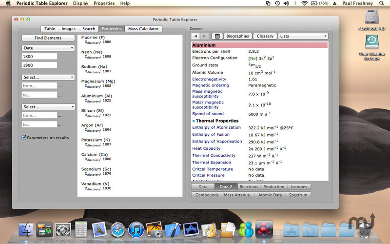 Periodic table explorer 16 purchase for mac macupdate screenshot 4 for periodic table explorer urtaz Choice Image