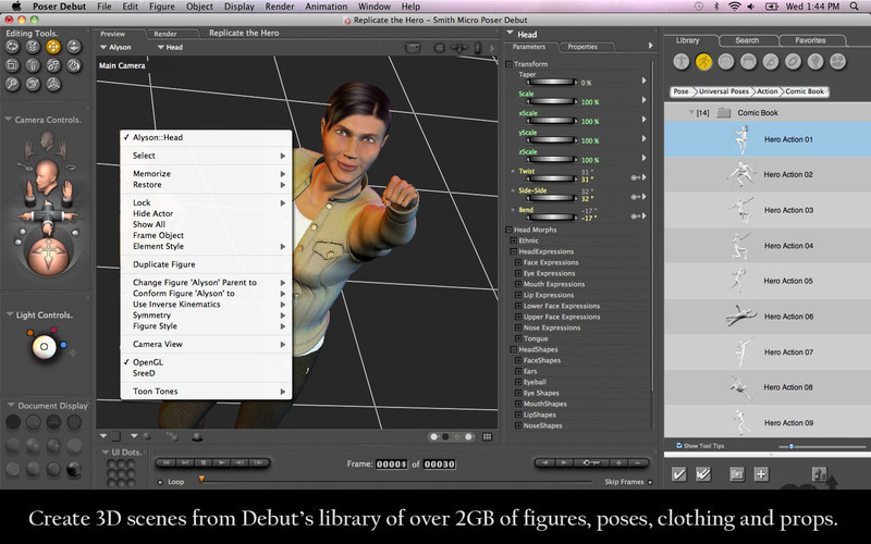 Screenshot 3 for Poser Debut