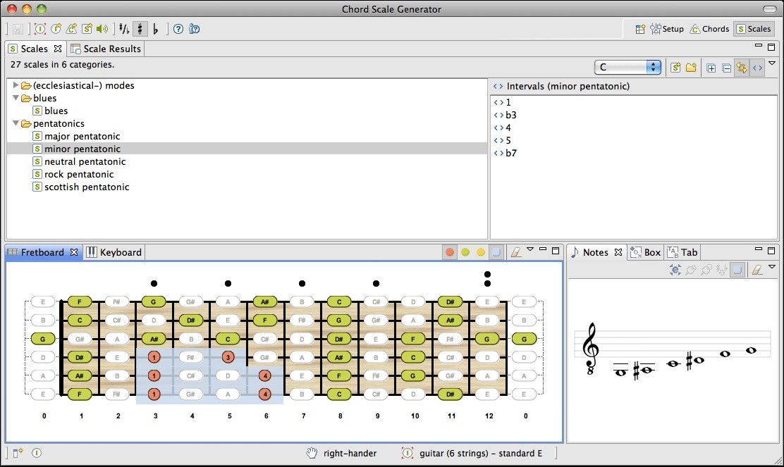 Screenshot 3 for Chord Scale Generator