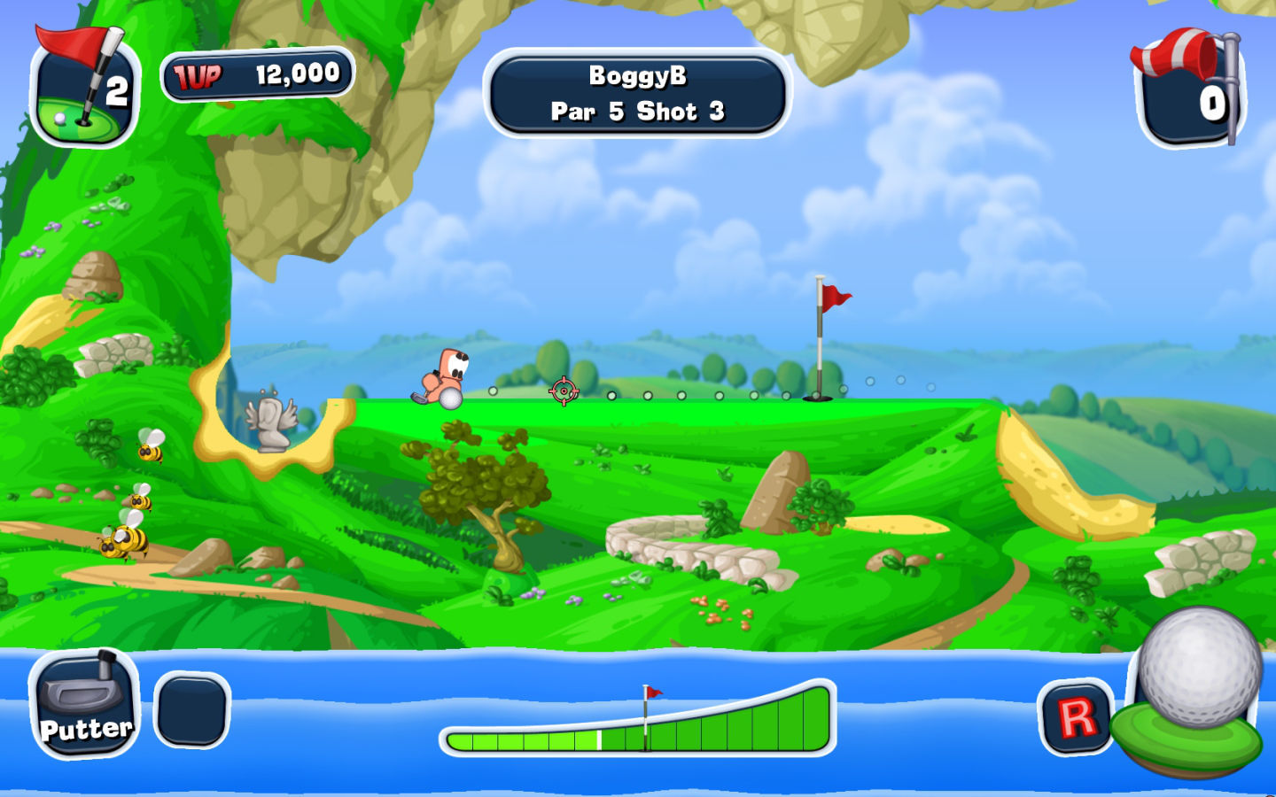 Screenshot 1 for Worms Crazy Golf