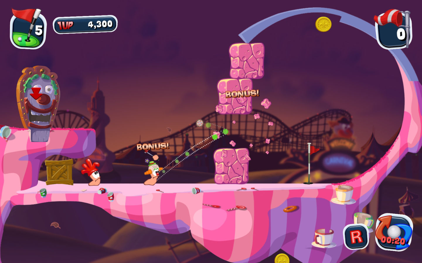 Screenshot 3 for Worms Crazy Golf