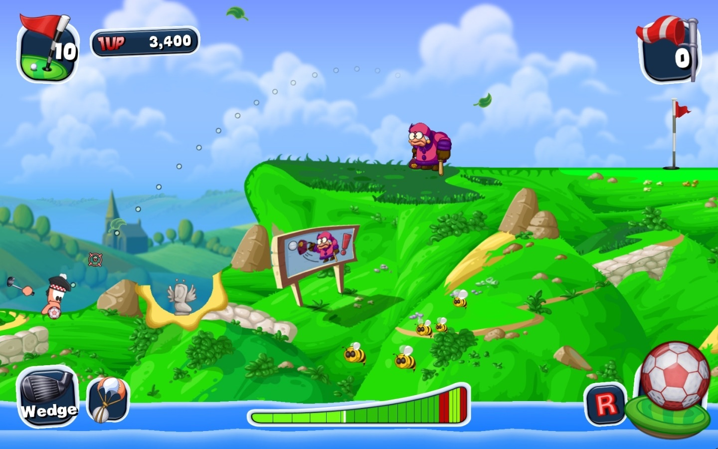 Screenshot 4 for Worms Crazy Golf