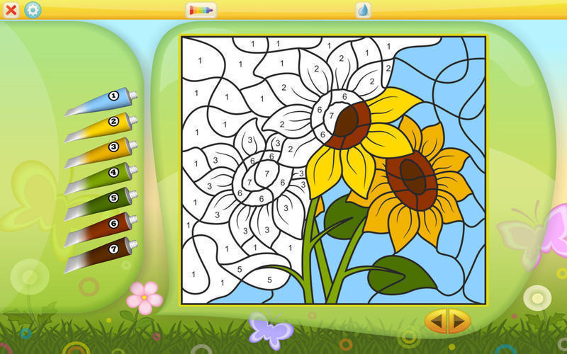 Screenshot 1 for Color by Numbers - Flowers
