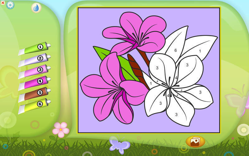 Screenshot 3 for Color by Numbers - Flowers
