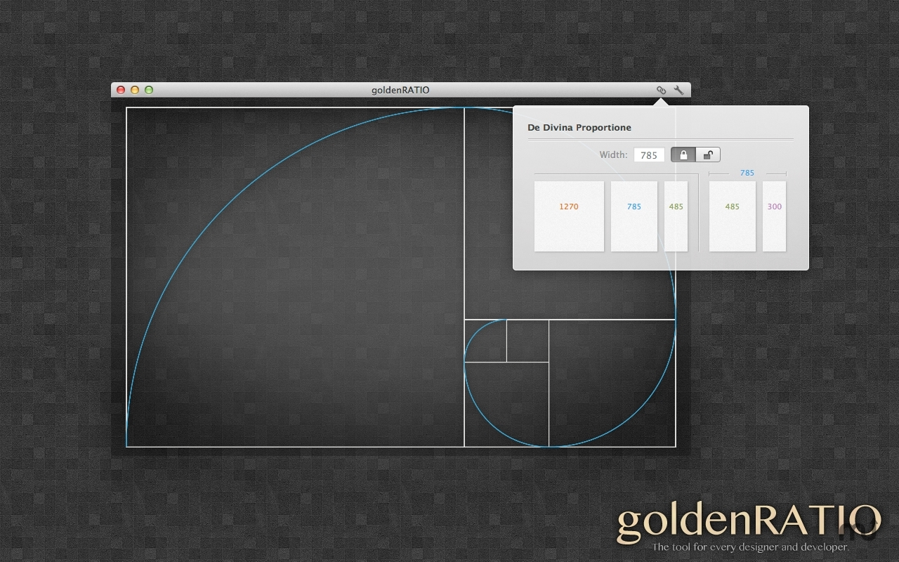 Screenshot 1 for goldenRATIO