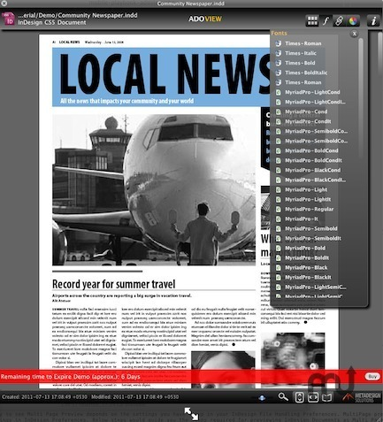 Screenshot 2 for ADOView for InDesign