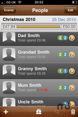 Screenshot 2 for Gift Manager