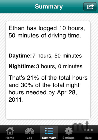 Screenshot 4 for Teen Driving Log
