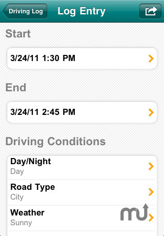 Screenshot 5 for Teen Driving Log