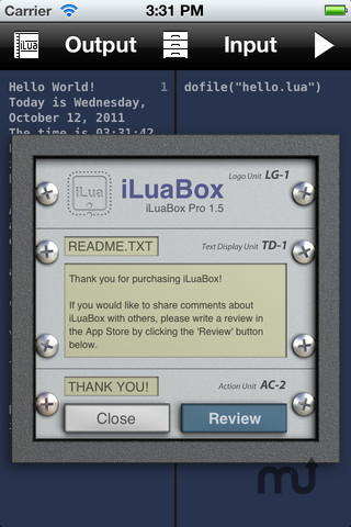 Screenshot 1 for iLuaBox