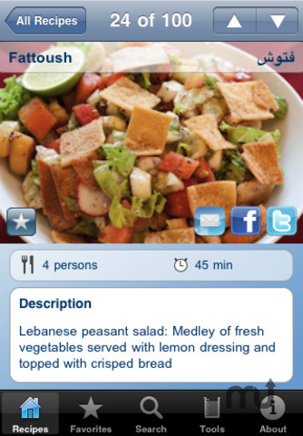 Screenshot 4 for 100 Lebanese Recipes