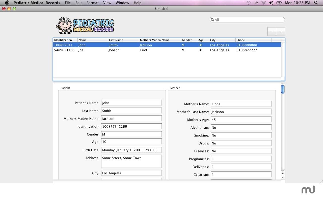 Screenshot 1 for Pediatric Medical Records
