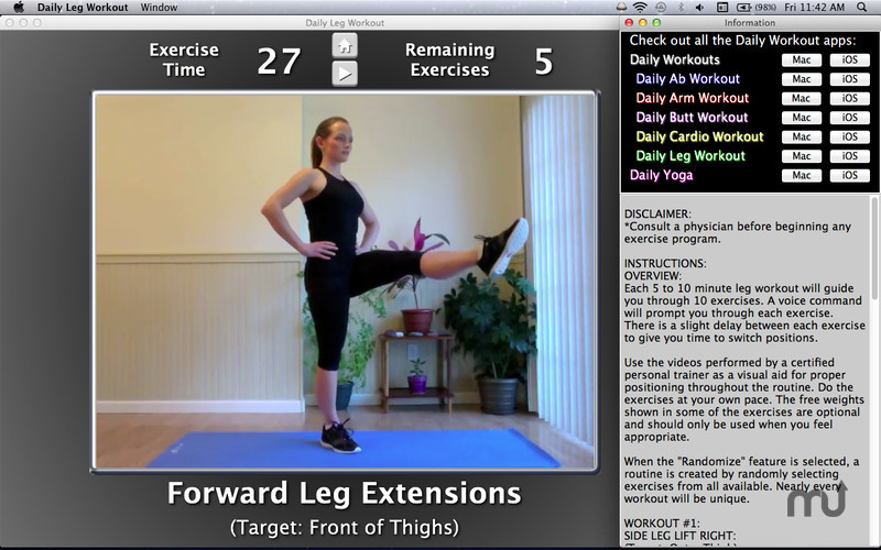 Screenshot 2 for Daily Leg Workout