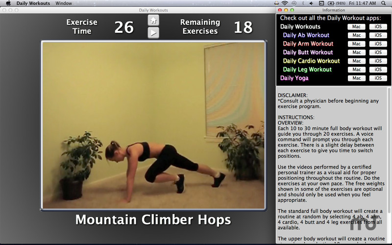 Screenshot 3 for Daily Workouts