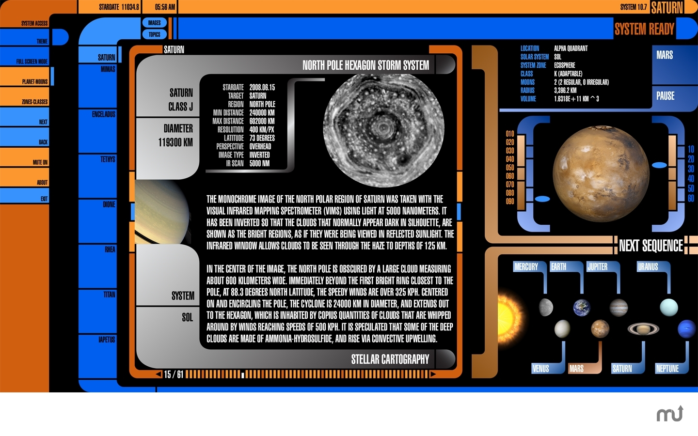 Screenshot 1 for Saturn