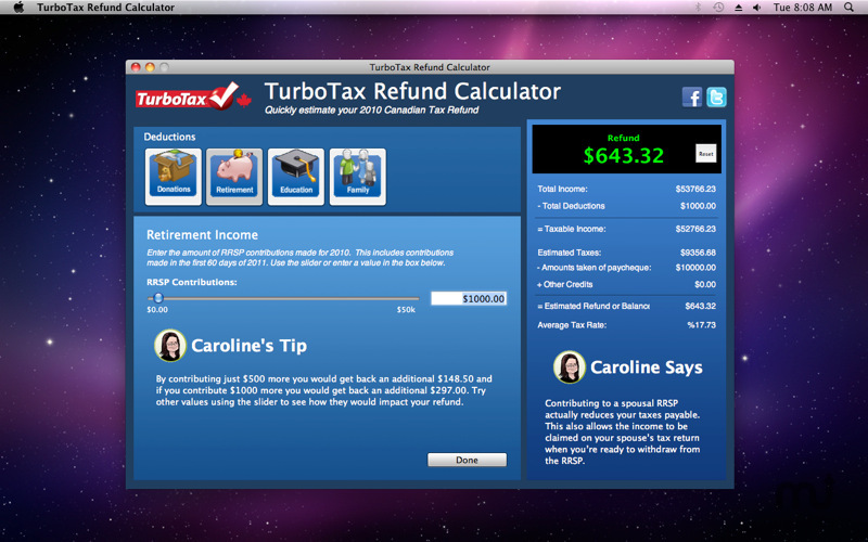 Screenshot 2 for TurboTax Refund Calculator