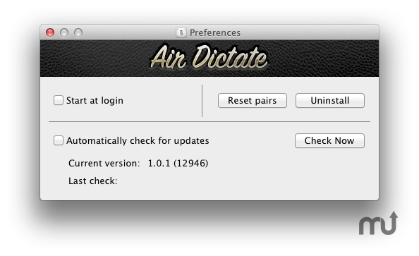 Screenshot 1 for Air Dictate Receiver