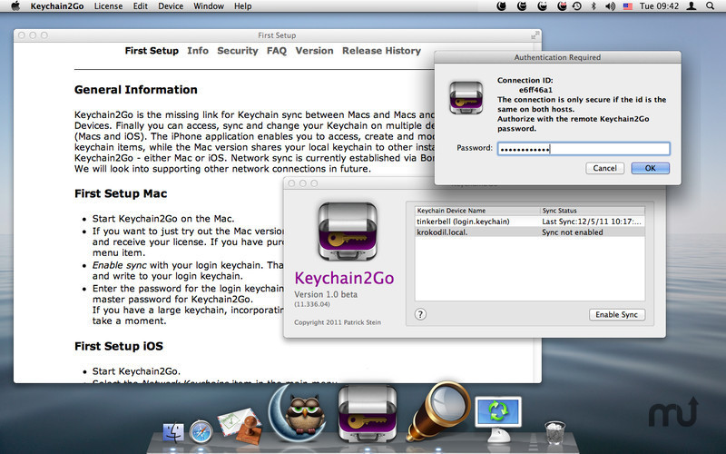 Screenshot 2 for Keychain2Go