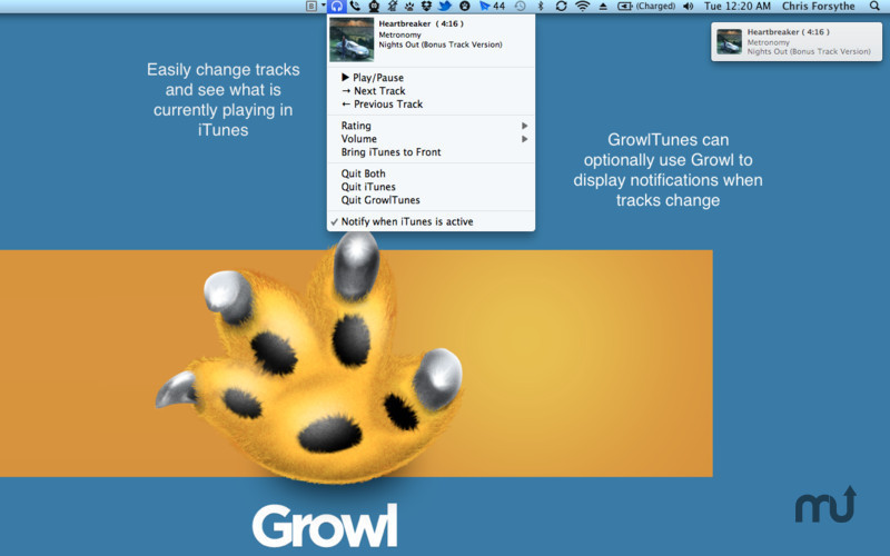 Screenshot 1 for GrowlTunes