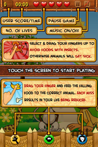 Screenshot 4 for Hungry Animals Lite