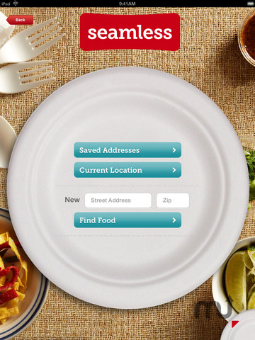 Screenshot 2 for Seamless Food Delivery and Takeout for iPad