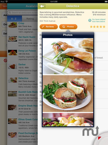 Screenshot 5 for Seamless Food Delivery and Takeout for iPad