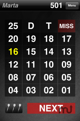 Screenshot 1 for Easy Darts Scorer