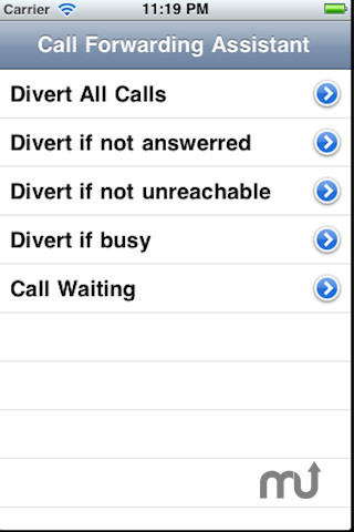 Screenshot 1 for Call Forwarding Assistant