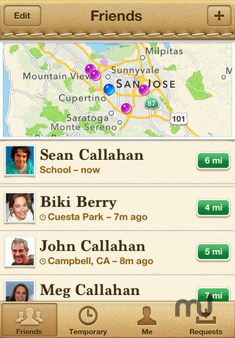Screenshot 1 for Find My Friends