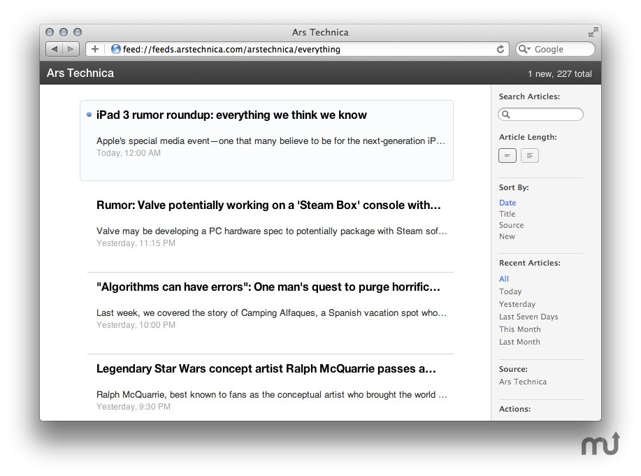 Screenshot 1 for Readable RSS
