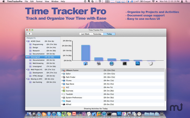 Screenshot 1 for Time Tracker Pro