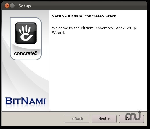 Screenshot 1 for BitNami concrete5 CMS Stack