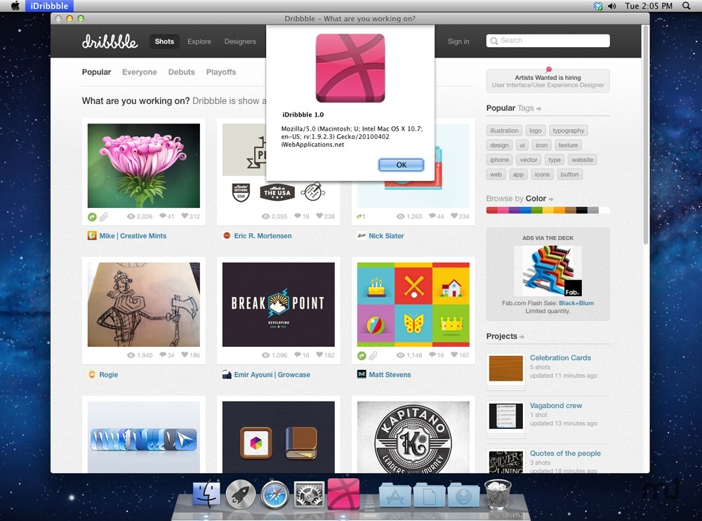 Screenshot 1 for iDribbble