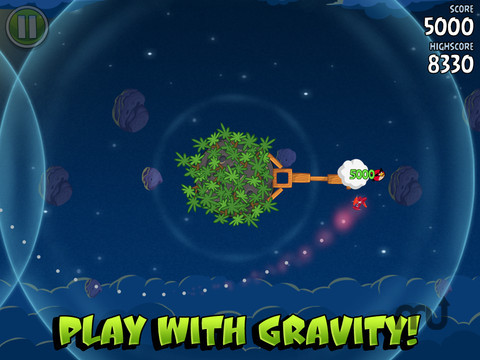 Screenshot 2 for Angry Birds Space HD
