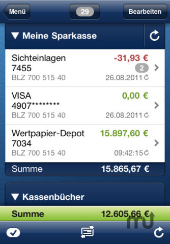 Screenshot 2 for iOutBank Pro - Mobile Banking