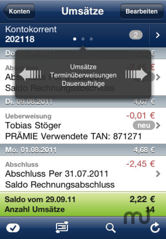 Screenshot 2 for iOutBank