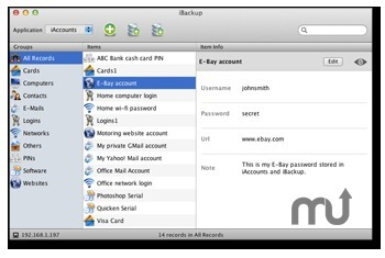 Screenshot 1 for iBackup