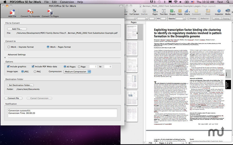 Screenshot 1 for PDF2Office for iWork 2017