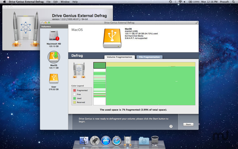 Screenshot 1 for Drive Genius External Defrag