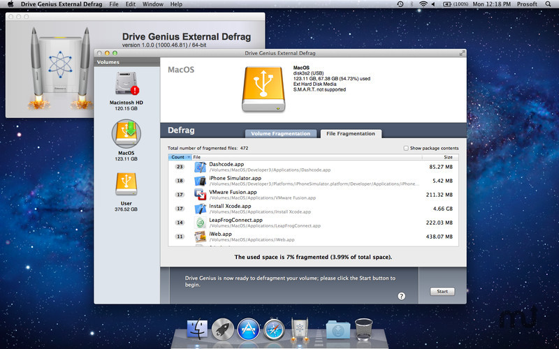 how to defrag external hard drive mac