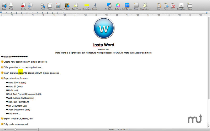 Screenshot 1 for iWrite
