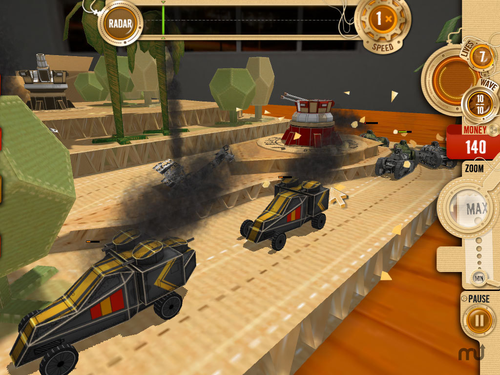 Screenshot 1 for War In A Box: Paper Tanks