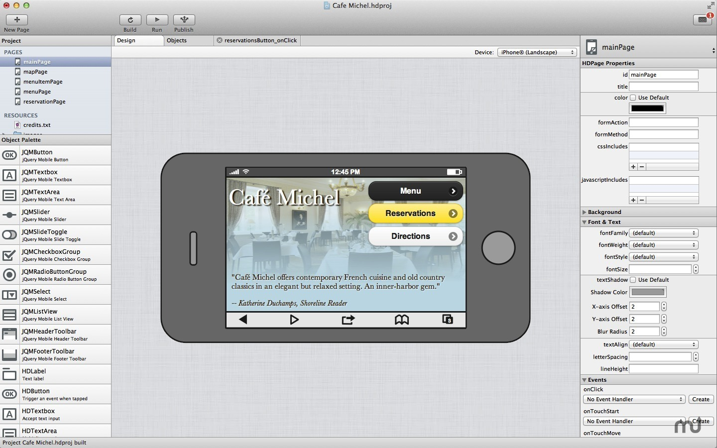 Screenshot 1 for Handheld Designer