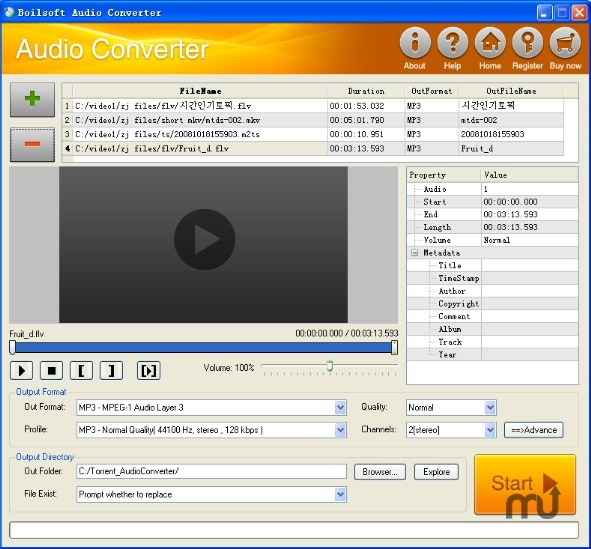 Screenshot 1 for Boilsoft Audio Converter