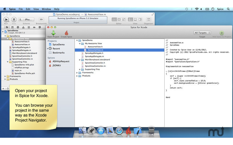 Screenshot 1 for Spice for Xcode